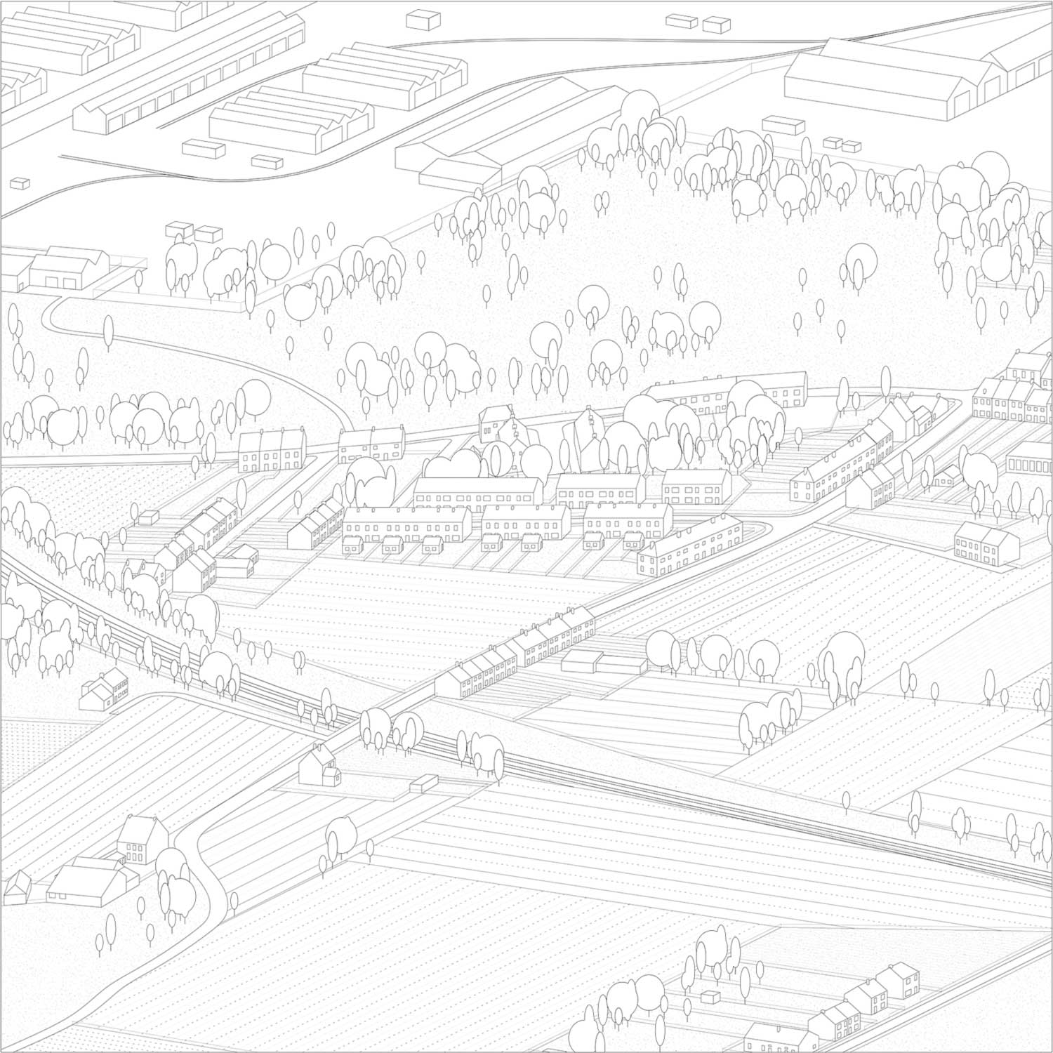 Suburban Welfare State (1945-1962). Competition entry for a Nationl Building Site in Haine-Sainte-Pierre (1947-1949)