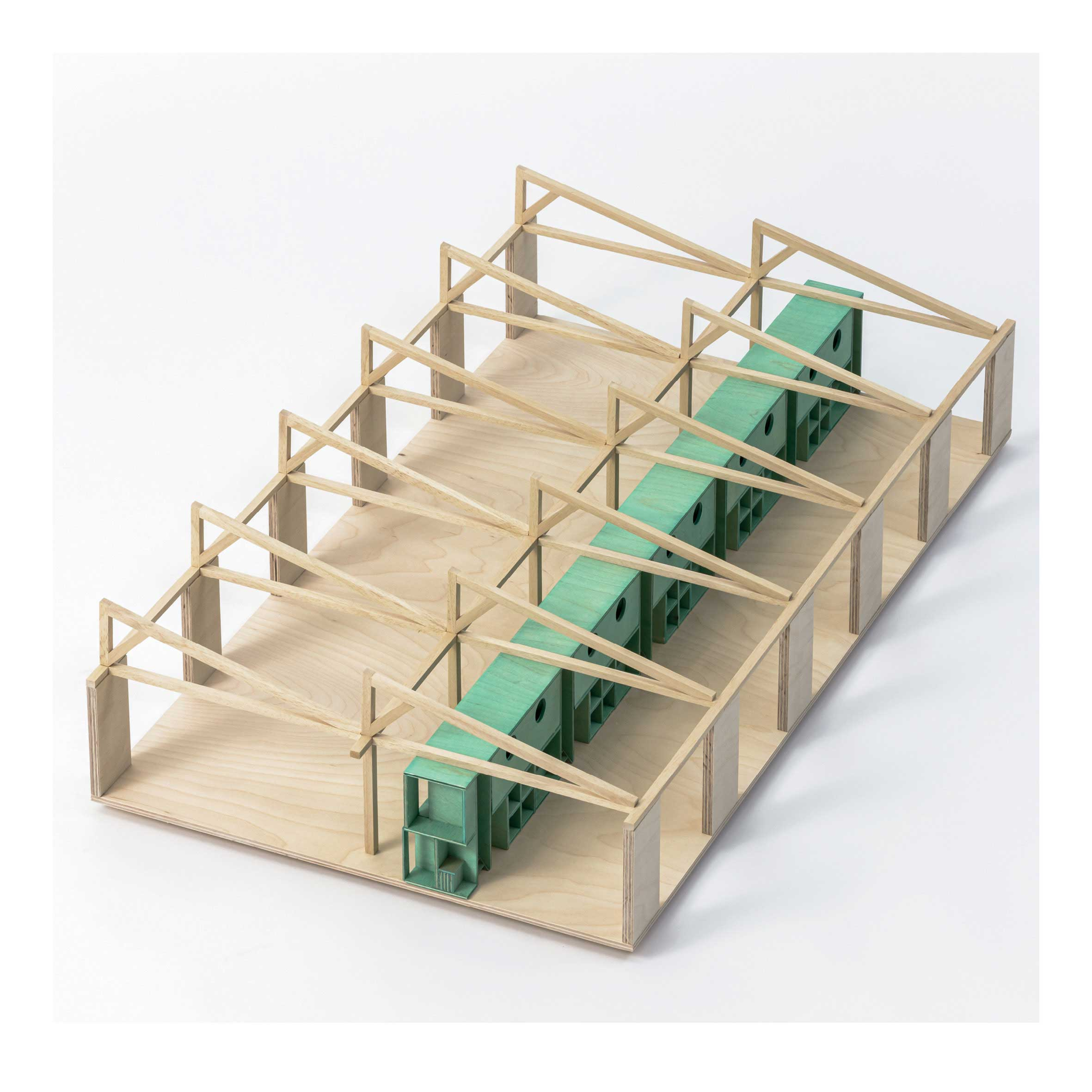 Model for a linear shed